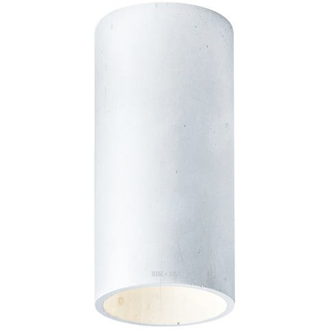 CONCRETE CYLINDER CEILING LIGHT BLUE