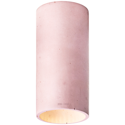 CONCRETE CYLINDER CEILING LIGHT BURGUNDY