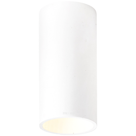 CONCRETE CYLINDER CEILING LIGHT WHITE