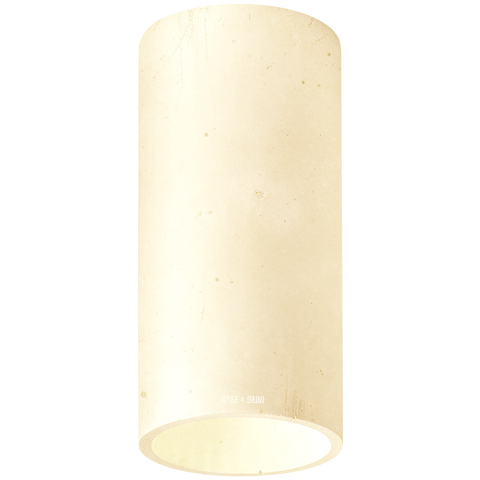 CONCRETE CYLINDER CEILING LIGHT YELLOW