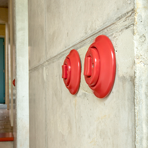 PORCELAIN WALL SWITCH RED ROTARY
