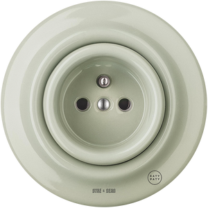 PORCELAIN WALL SOCKET GREY GREEN