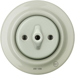 PORCELAIN WALL LIGHT SWITCH GREY GREEN ROTARY