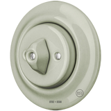 PORCELAIN WALL SWITCH GREY GREEN ROTARY