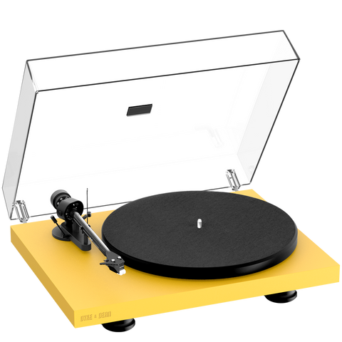 PRO-JECT DEBUT CARBON EVO TURNTABLE YELLOW - HOMEWARE - DYKE & DEAN  - Homewares | Lighting | Modern Home Furnishings
