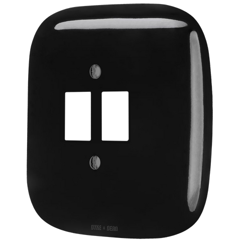 SQUARE PORCELAIN WALL SOCKET BLACK PC/USB