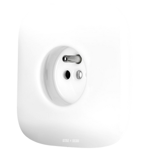 SQUARE PORCELAIN WALL SOCKET WHITE