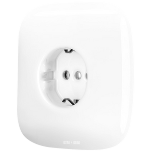 SQUARE PORCELAIN WALL SOCKET WHITE SCHUKO
