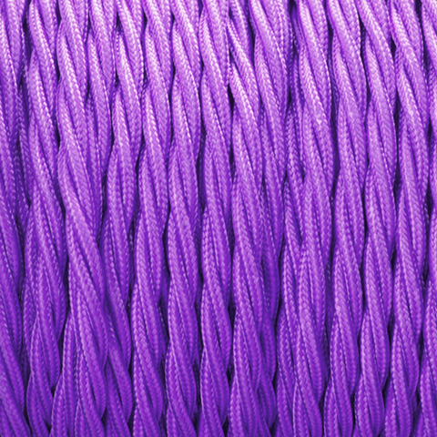 PURPLE TWISTED FABRIC CABLE