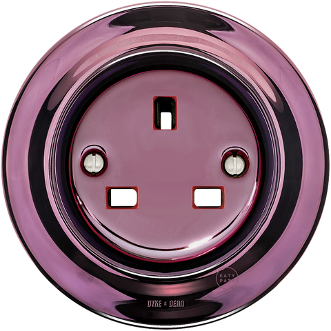 PORCELAIN WALL SOCKET PURPLE UK