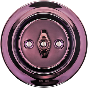 PORCELAIN WALL SWITCH PURPLE ROTARY