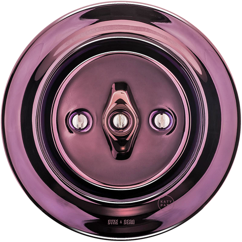 PORCELAIN WALL LIGHT SWITCH PURPLE ROTARY