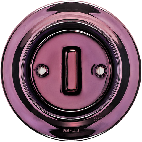 PORCELAIN WALL SWITCH PURPLE SLIM BUTTON