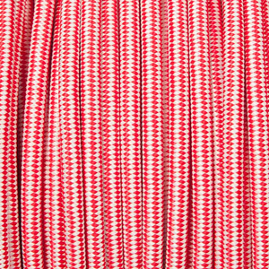 RED & WHITE STRIPE FABRIC CABLE