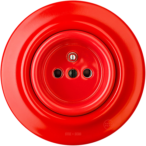 PORCELAIN WALL SOCKET RED