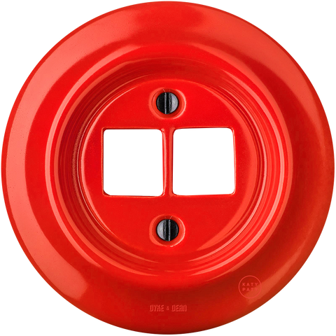 PORCELAIN WALL SOCKET RED PC/USB