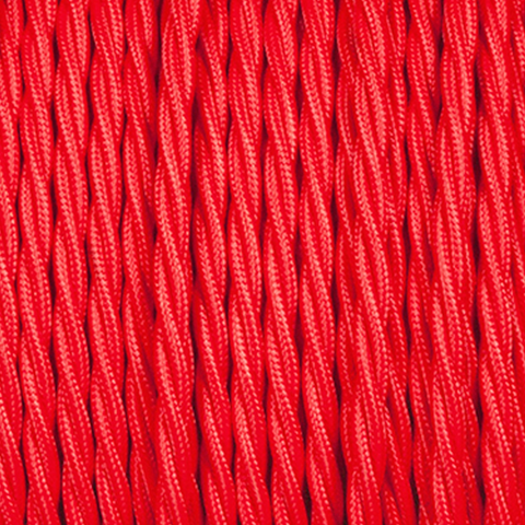 RED TWISTED FABRIC CABLE - FABRIC CABLE - DYKE & DEAN  - Homewares | Lighting | Modern Home Furnishings