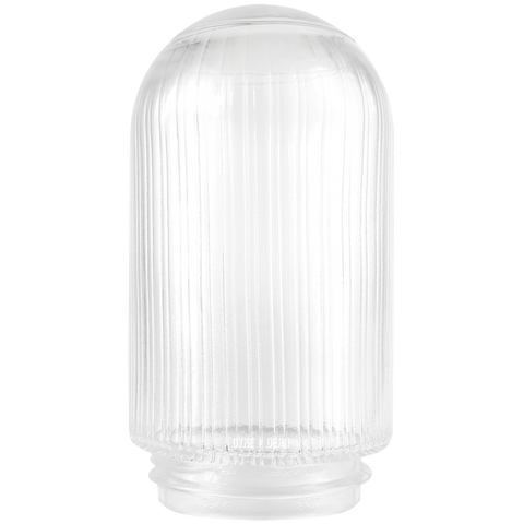 RIBBED CLEAR GLASS 85mm