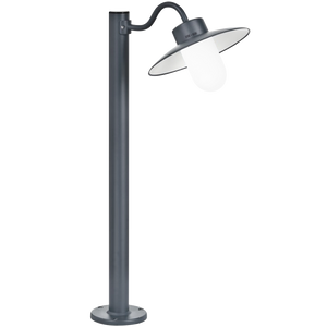 FRENCH BOLLARD SWAN NECK LAMP FROSTED GLASS