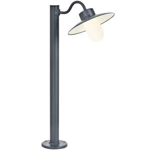FRENCH BOLLARD SWAN NECK LAMP FROSTED GLASS - BATHROOM / OUTDOOR LIGHTS - DYKE & DEAN  - Homewares | Lighting | Modern Home Furnishings