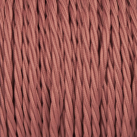 OLD ROSE TWISTED FABRIC CABLE - FABRIC CABLE - DYKE & DEAN  - Homewares | Lighting | Modern Home Furnishings