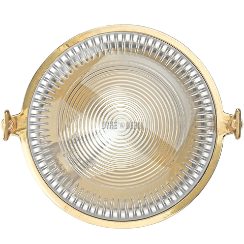 ROUND BRASS WALL AND CEILING LAMP