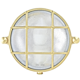 SMALL ROUND BRASS BULKHEAD LAMP
