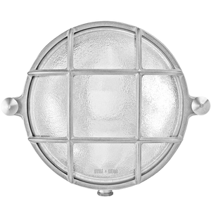 SMALL ROUND CHROME BULKHEAD LAMP