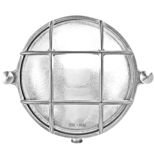 SMALL ROUND NICKEL BULKHEAD LAMP