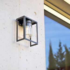 FRAMED OUTDOOR WALL & CEILING LAMP