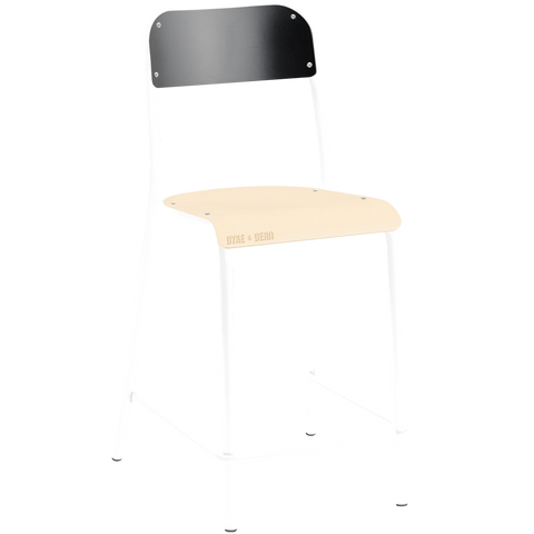 TUBULAR D&D CHAIR STOOL BLACK / BEECHWOOD