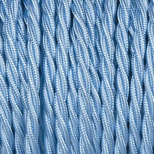 SKY BLUE TWISTED FABRIC CABLE