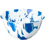 BLUE & WHITE SLIP ENAMELWARE SALAD BOWL
