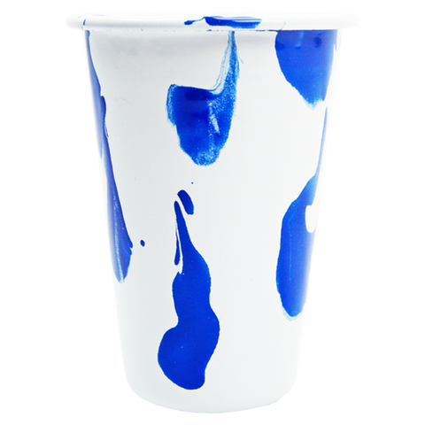 BLUE & WHITE SLIP ENAMELWARE TUMBLER - KITCHENWARE - DYKE & DEAN  - Homewares | Lighting | Modern Home Furnishings