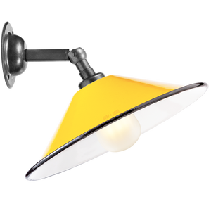 YELLOW SMALL CONE SHADE WALL LAMP