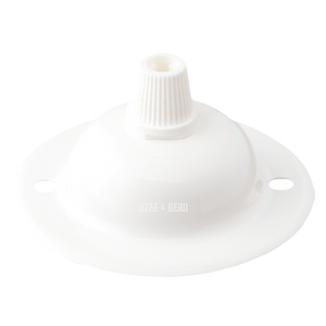 WHITE POWDERCOATED MINI CEILING ROSES