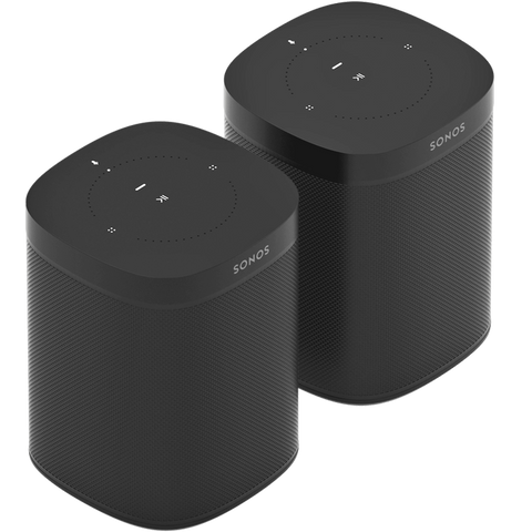 SONOS ONE BLACK TWO ROOM SET
