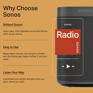 SONOS ONE WHITE - HOMEWARE - DYKE & DEAN  - Homewares | Lighting | Modern Home Furnishings