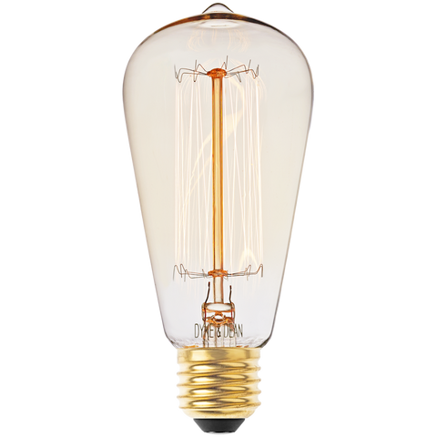 SQUIRREL CAGE EDISON FILAMENT BULB 40W - BULBS - DYKE & DEAN  - Homewares | Lighting | Modern Home Furnishings