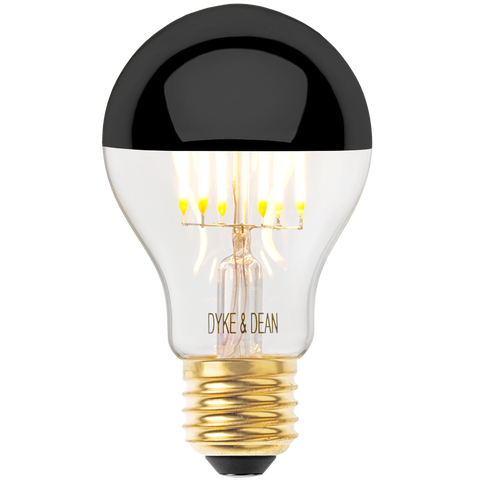 DYKE & DEAN LED BLACK CAP STANDARD E27 BULB - BULBS - DYKE & DEAN  - Homewares | Lighting | Modern Home Furnishings
