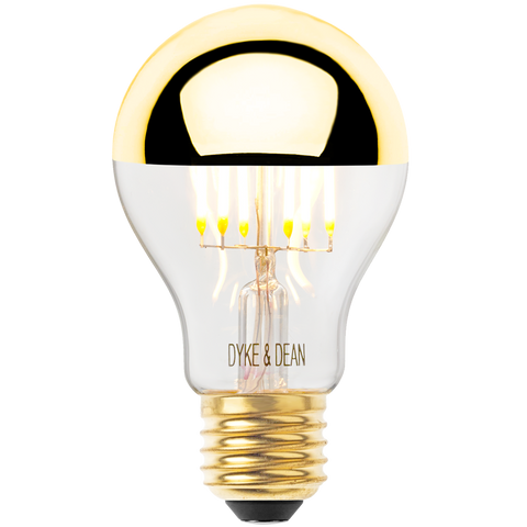 DYKE & DEAN LED GOLD CAP STANDARD E27 BULB - BULBS - DYKE & DEAN  - Homewares | Lighting | Modern Home Furnishings