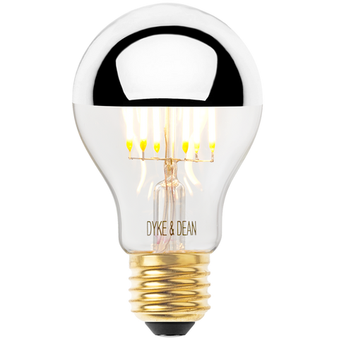 DYKE & DEAN LED SILVER CAP STANDARD E27 BULB - BULBS - DYKE & DEAN  - Homewares | Lighting | Modern Home Furnishings