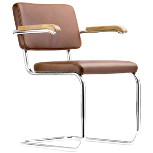 S 64PV THONET LEATHER DINING CHAIR