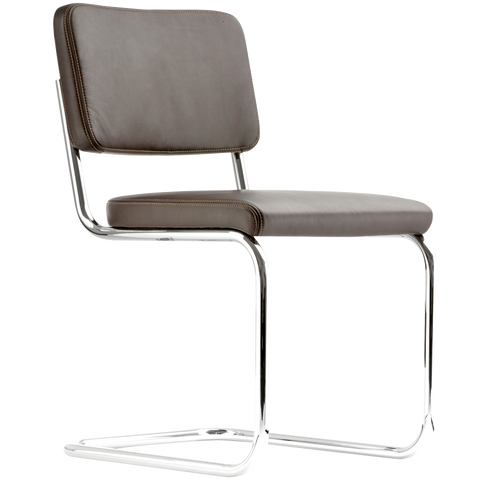 S 32PV THONET LEATHER DINING CHAIR
