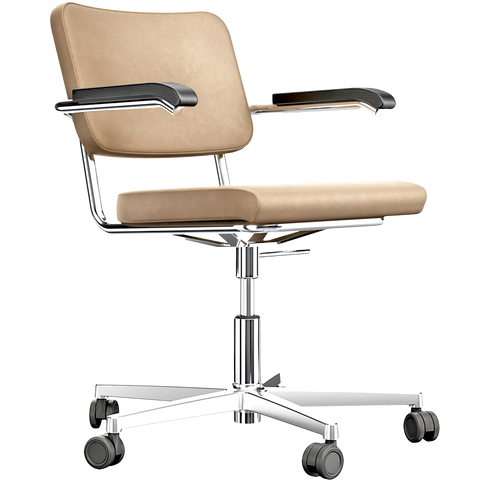 S 64 NDR LEATHER SWIVEL CHAIR