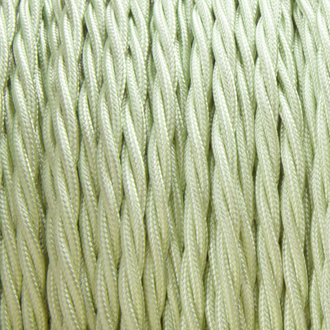 TISANE GREEN FABRIC CABLE - FABRIC CABLE - DYKE & DEAN  - Homewares | Lighting | Modern Home Furnishings