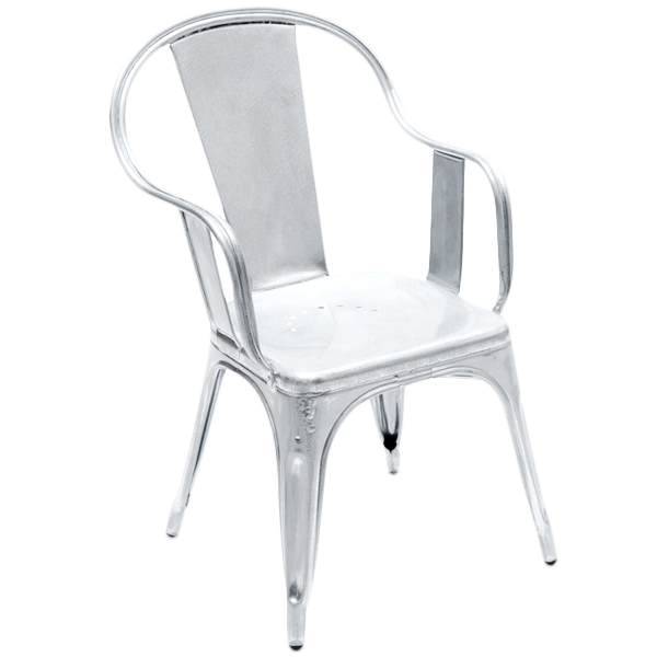 TOLIX C CAFE ARMCHAIR STEEL