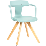 TOLIX T14 STEEL & WOOD LEGS CHAIR