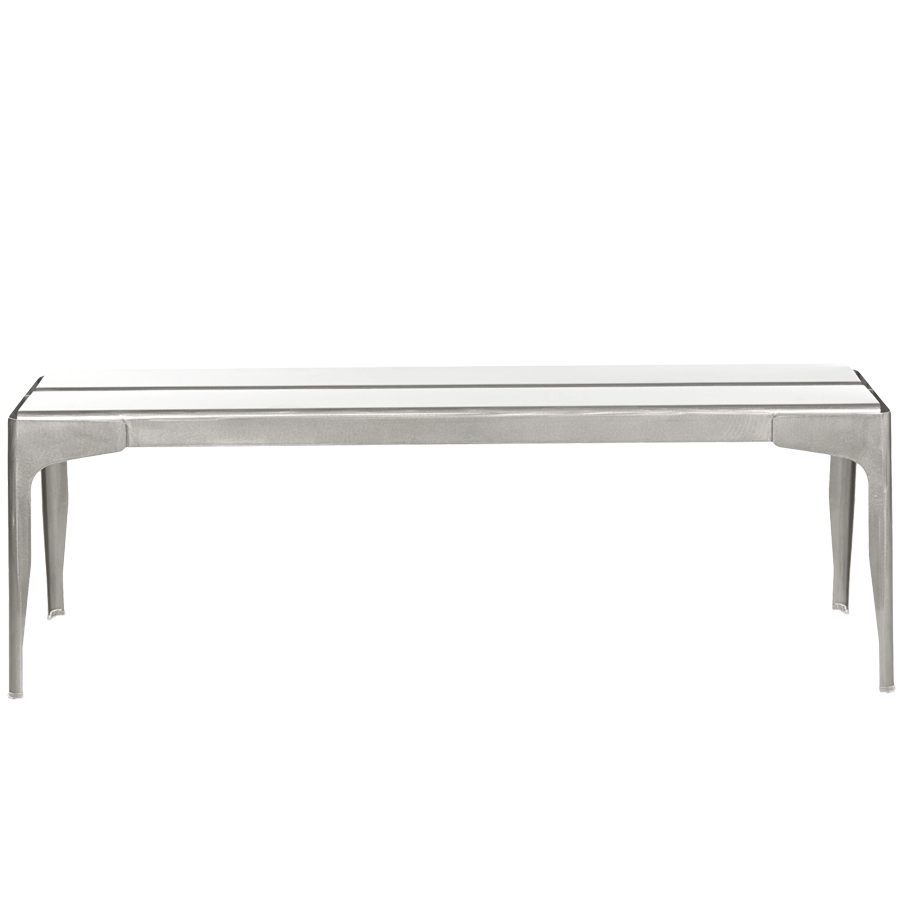 kingsley and backless boca bate bench teak by stainless steel