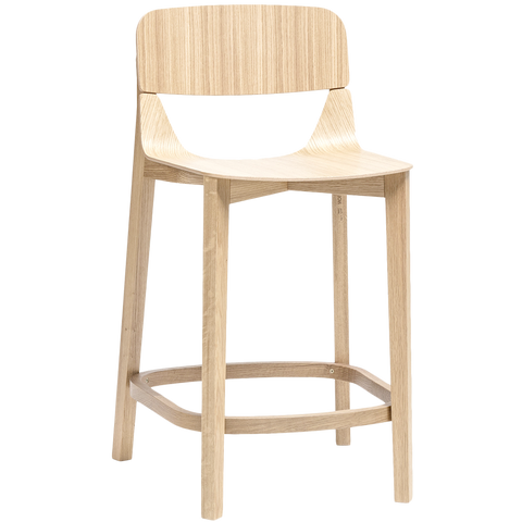 TON LEAF STOOL WITH BACKREST LOW